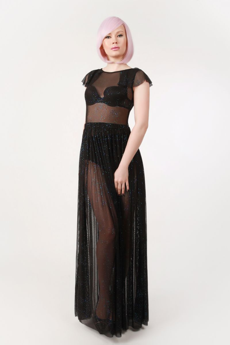 2e885f23a5 Nyx Sheer Maxi Dress - Isabelle Batz